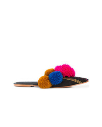 Chinelas de lona estampadas en multicolor de Figue