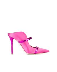Chinelas de satén rosa de Malone Souliers