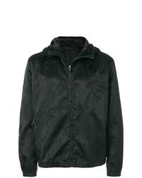 Chubasquero estampado negro de Versace