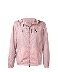 Chubasquero estampado rosado de Valentino