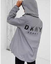 Chubasquero gris de DKNY