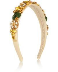 Cinta para la cabeza con adornos dorada de Dolce & Gabbana