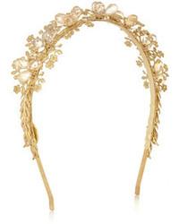 Cinta para la cabeza con adornos dorada de Eugenia Kim