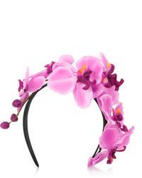 Cinta para la cabeza con print de flores rosada