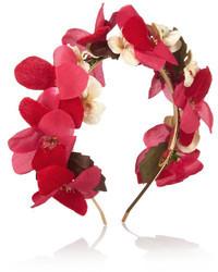 Cinta para la cabeza con print de flores rosada de Eugenia Kim