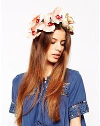Cinta para la cabeza con print de flores rosada de N.