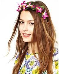 Cinta para la Cabeza de Flores Rosada de Asos