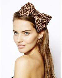 Cinta para la cabeza de leopardo marrón