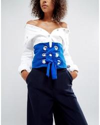 Cinturón azul de ASOS DESIGN