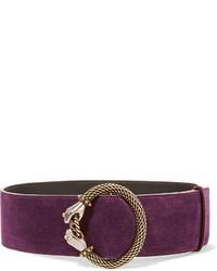 Cinturón con adornos morado oscuro de Lanvin