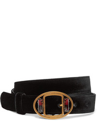 Cinturón con adornos negro de Prada