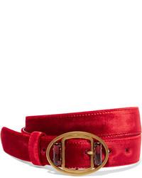Cinturón con adornos rojo de Prada