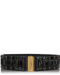 Cinturón de cuero con adornos negro de Marni