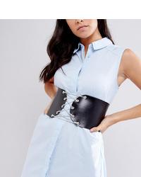Cinturón de cuero con adornos negro de Retro Luxe London