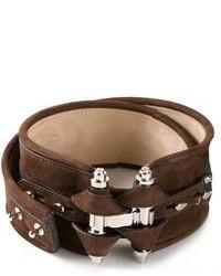 Cinturón de cuero en marrón oscuro de Givenchy
