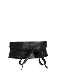 Cinturón de cuero negro de Asos