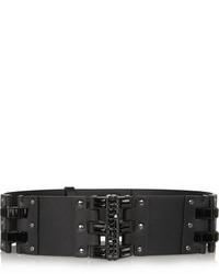 Cinturón de cuero negro de Lanvin