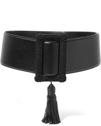 Cinturón de cuero negro de Saint Laurent