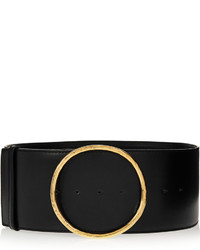 Cinturón de cuero negro de Stella McCartney