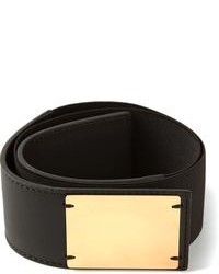 Cinturón de elástico en negro y dorado