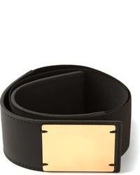 Cinturón de elástico en negro y dorado de Marni