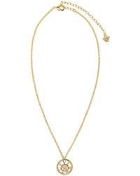 Colgante dorado de Versace