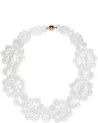 Collar con cuentas con print de flores blanco de Simone Rocha