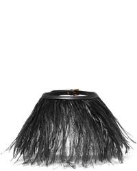 Collar de cuero negro de Valentino