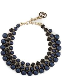 Collar de perlas azul marino de Gucci