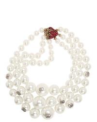 Collar de perlas blanco de Gucci