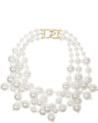 Collar de Perlas Blanco de Kenneth Jay Lane