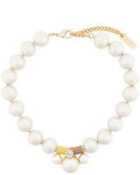 Collar de perlas blanco de Rada'