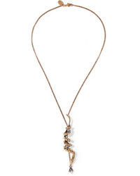 Collar de perlas dorado de Alexander McQueen
