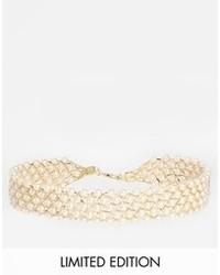 Collar de perlas en beige de Asos