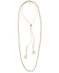 Collar de perlas en beige de Chan Luu