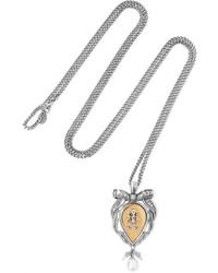 Collar de perlas plateado de Alexander McQueen