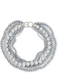 Collar de perlas plateado de Kenneth Jay Lane