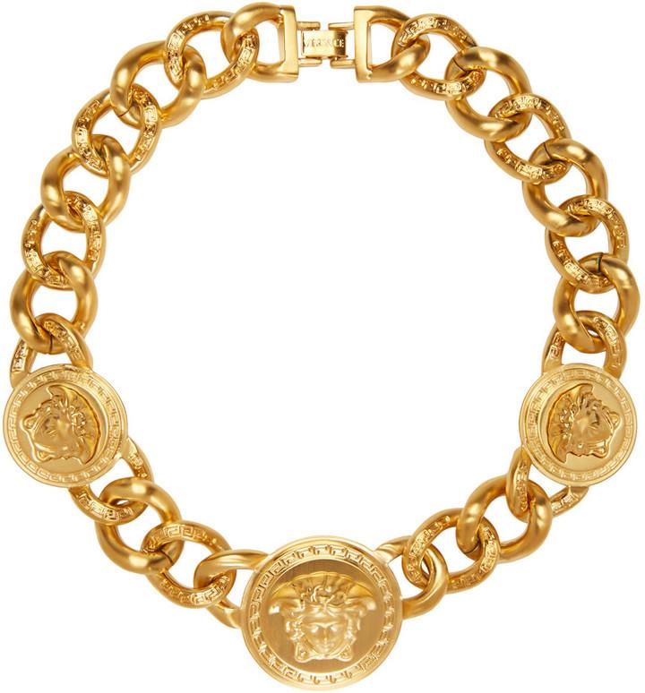 mejor servicio elige auténtico nueva €1.173, Collar dorado de Versace