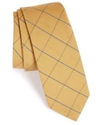 Corbata a cuadros amarilla
