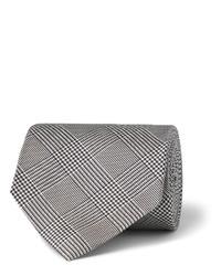 Corbata a cuadros gris de Drakes