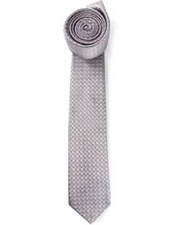 Corbata a cuadros gris de Lanvin
