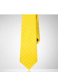 Corbata a lunares amarilla