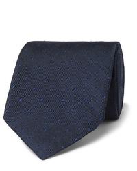 Corbata a lunares azul marino de Tom Ford