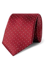 Corbata a lunares burdeos de Lanvin