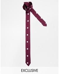 Corbata a lunares burdeos de Reclaimed Vintage