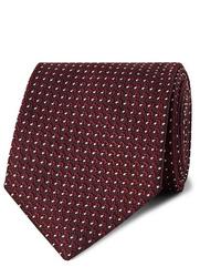 Corbata a lunares burdeos de Tom Ford