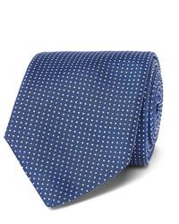 Corbata a lunares en azul marino y blanco de Hugo Boss