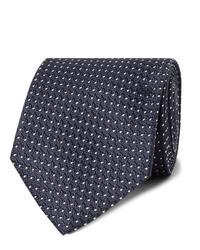 Corbata a lunares en azul marino y blanco de Tom Ford