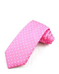 Corbata a lunares rosa