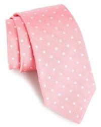 Corbata a lunares rosada